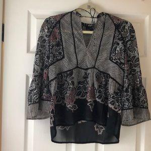 Lucky brand Flower blouse